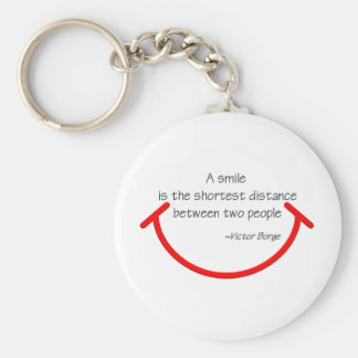 The wisdom of Victor Borge Basic Round Button Keychain