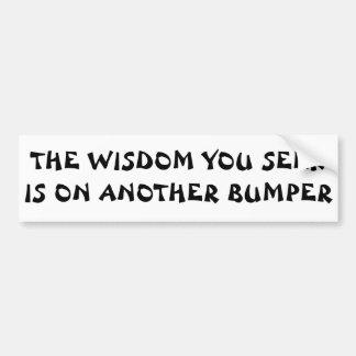 The Wisdom You Seek Fortune Cookie Car Bumper Sticker