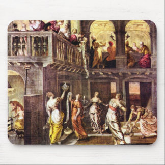 The wise and foolish virgins by Tintoretto Mousepads