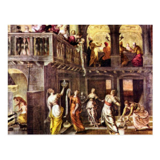 The wise and foolish virgins by Tintoretto Postcard