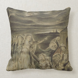 The Wise and Foolish Virgins, c.1822 (w/c and pen Throw Pillow