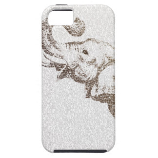 The Wise Elephant - typography art - iPhone iPhone SE/5/5s Case