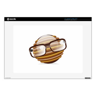 """The Wise Guy - The Geek Smiley With Glasses 15"""" Laptop Decal"""