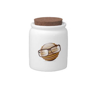 The Wise Guy - The Geek Smiley With Glasses Candy Jar