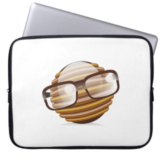 The Wise Guy - The Geek Smiley With Glasses Computer Sleeve