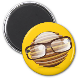 The Wise Guy - The Geek Smiley With Glasses Magnet