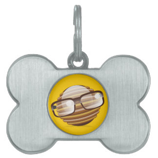 The Wise Guy - The Geek Smiley With Glasses Pet Tag