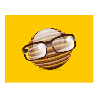 The Wise Guy - The Geek Smiley With Glasses Postcard