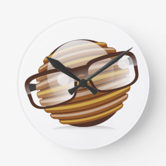 The Wise Guy - The Geek Smiley With Glasses Round Clock