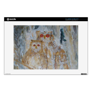 The Wise Horned Owls Decals For Laptops