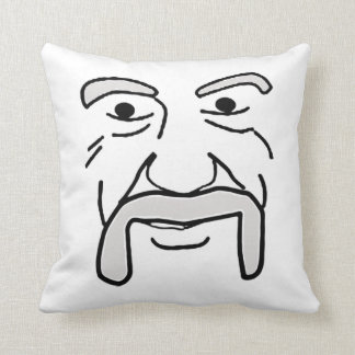 The Wise Mustache Throw Pillow