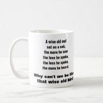 THE WISE OLD OWL mug