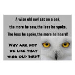 THE WISE OLD OWL poster