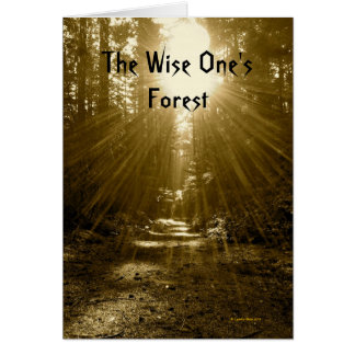 The Wise One's Forest Greeting Card