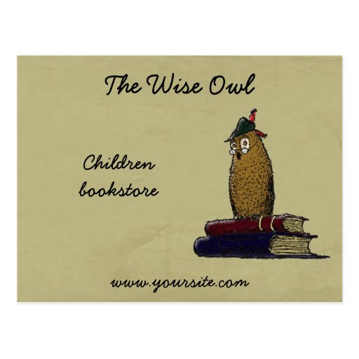 The Wise Owl Postcard
