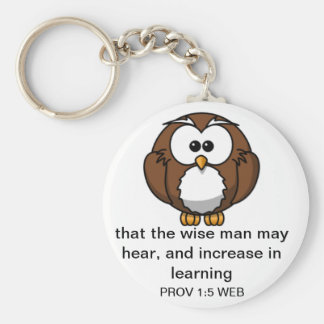 The Wise Owl - Proverbs 1: Keychain