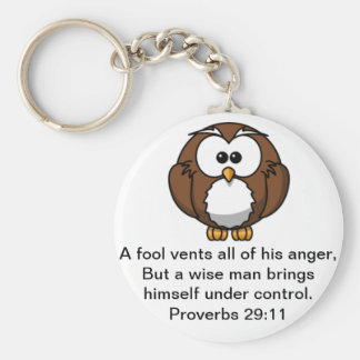 The Wise Owl - Proverbs 29:11 Keychain