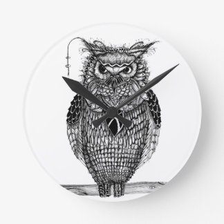 The wise owl round clock