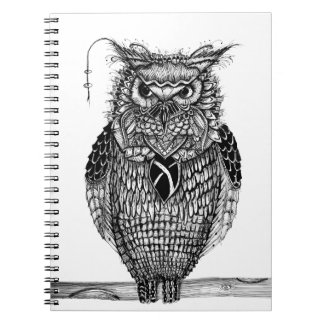 The wise owl spiral notebook