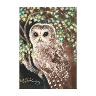 The Wise & Serious Owl Gallery Wrap Canvas