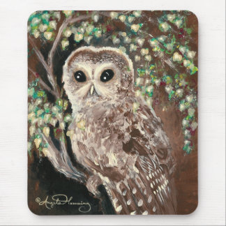 The Wise & Serious Owl Mouse Pad