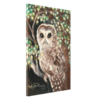 The Wise & Serious Owl Stretched Canvas Prints