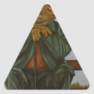 The Wise Toad Triangle Sticker