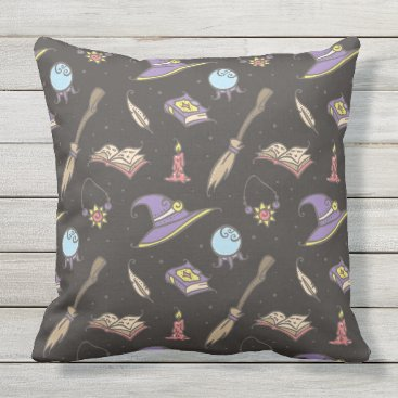 Halloween Themed The wise wizard pattern 1 outdoor pillow