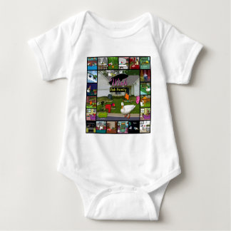 The Wish Fish Family Collage Baby Bodysuit