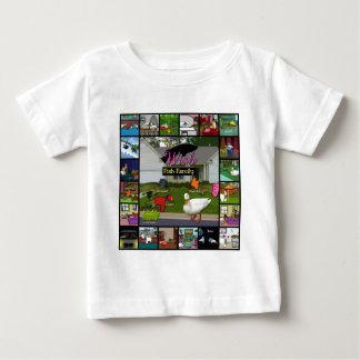 The Wish Fish Family Collage Baby T-Shirt