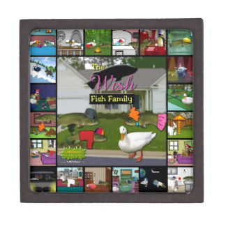 The Wish Fish Family Collage Jewelry Box