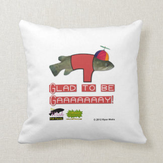 The Wish Fish Family - Junior - Glad to be Gay Throw Pillow