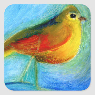 The Wishing Bird 2012 Square Sticker