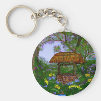 The Wishing Well Basic Round Button Keychain