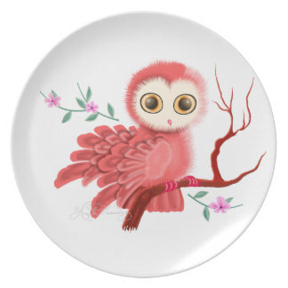 The Wistful Owl Dinner Plates