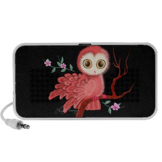 The Wistful Owl Doodle Speaker doodle