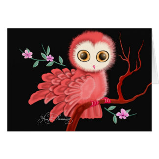 The Wistful Owl Postcard, Note Cards, Greeting Card