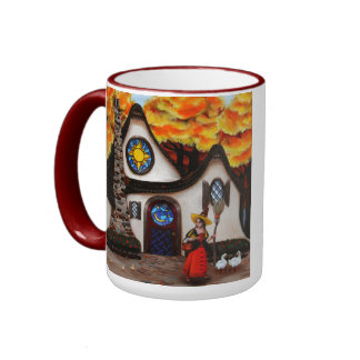 The Witch and her Geese Coffee Mugs