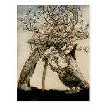 The Witch and Old Lady Tree 1922 Post Cards