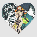 The Witch Doctors Spell - Vintage Comic Heart Stickers