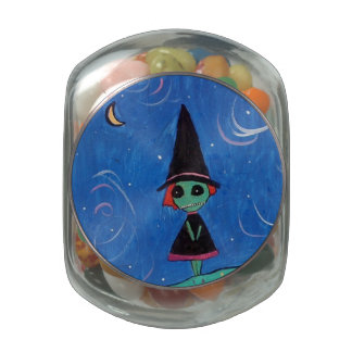 The Witch Glass Candy Jar