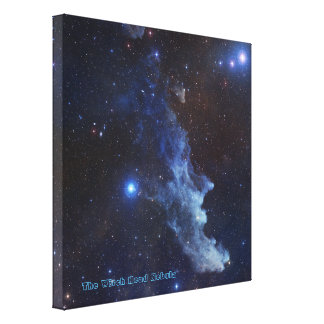 The Witch Head Nebula with Title Canvas Print