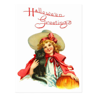 The Witch in Red Postcard