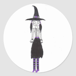 The Witch Is In Classic Round Sticker