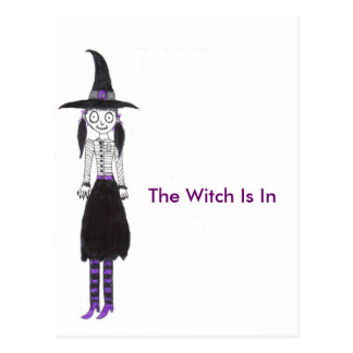 The Witch Is In Postcard
