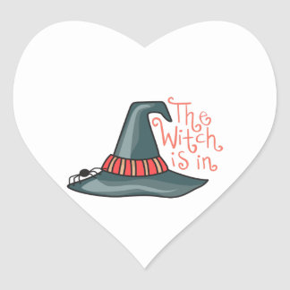 THE WITCH IS IN HEART STICKER