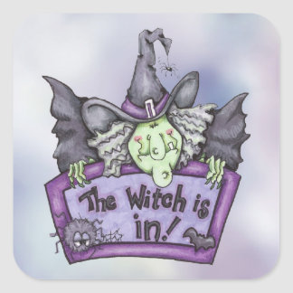 The Witch Is In - Stickers