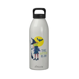 The Witch Is In Reusable Water Bottle