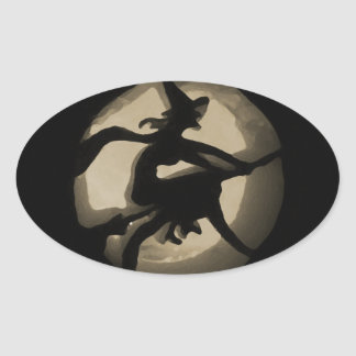 The Witch Oval Sticker