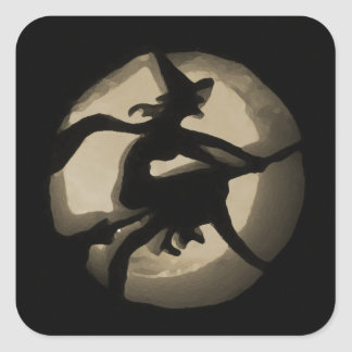 The Witch Square Sticker